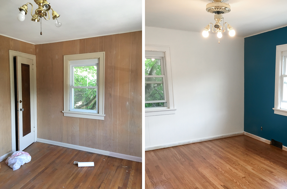 How to paint wood paneling curated couple for Wood paneling painted white